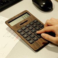 手触りが心地良い、大きい木製ソーラー電卓「SOLARPOWERDCALCULATORWIDE」