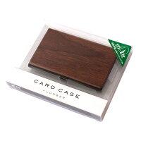 【名入れ可能】重厚感のあるステンレス素材に銘木の魅力をプラスした木製名刺入れ