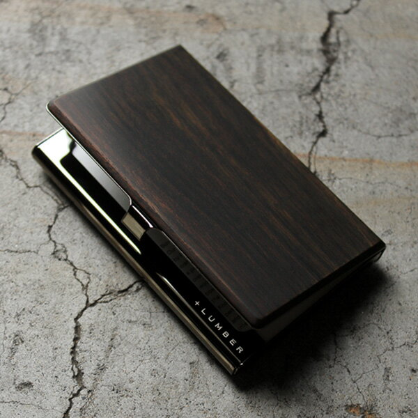 木製名刺入れ・カードケース「CARD CASE(黒檀)」プレミアムモデル