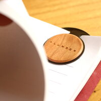 ■【+L】木製ペーパークリップ5枚セット