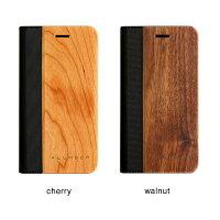 手帳型の木製アイフォンケース、iPhone8専用フリップケース