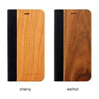 手帳型の木製アイフォンケース、iPhone8/7Plus専用フリップケース