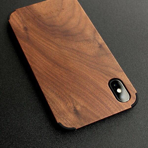 丈夫なハードケースと天然木を融合したiPhone X専用木製ケース