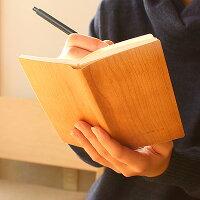 天然木の表紙がおしゃれなノートブック・メモ帳「NOTEBOOKMINI」【+LUMBERブランド】