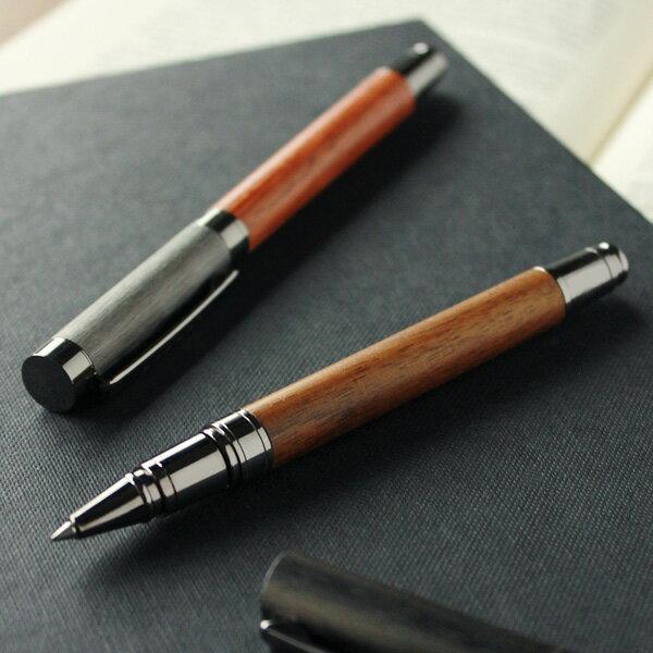 銘木をプラスした丸型ボールペン「ROUND BODY BALLPOINT PEN」