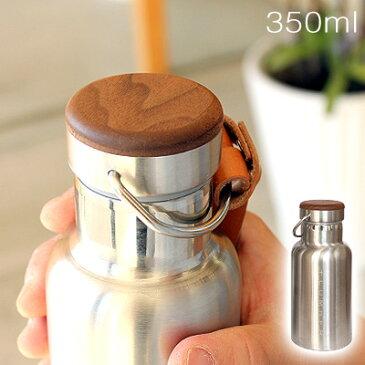 ■「+LUMBER THERMO BOTTLE 350ml」水筒 ステンレスボトル すいとう タンブラー サーモスボトル おしゃれ 名入れ 木製 木目 モク 魔法瓶 Hacoa ハコア