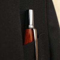 ■【名入れ】銘木をプラスした木製ボールペン「TRIANGLEBODYBALLPOINTPEN」