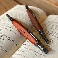 【名入れ】銘木をプラスした木製ボールペン「TRIANGLEBODYBALLPOINTPEN」