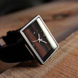 ■四角い腕時計「+LUMBER WATCH 1200」腕時計 ウォッチ 木製 ウッド メンズ レディース ユニセックス 日本製ムーブメント 生活防水 プレゼント ギフト おしゃれ シンプル ペアウォッチ 軽い Hacoa 送料無料 スクエア