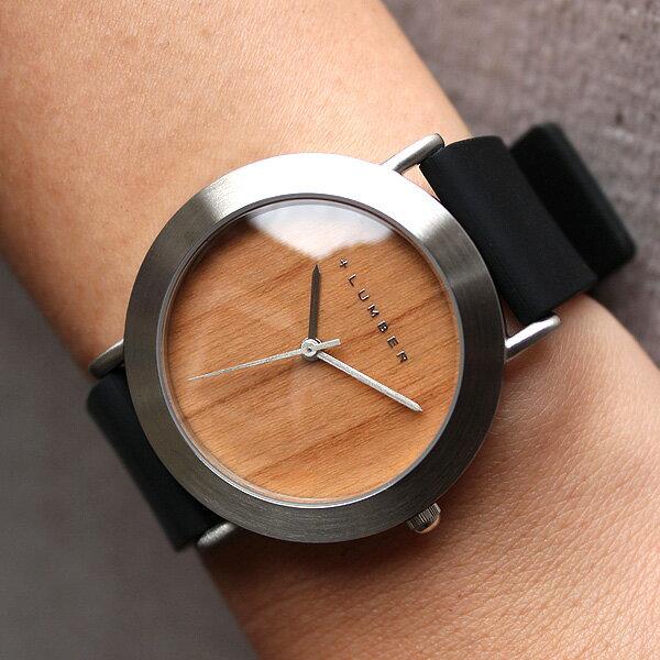チェリー・黒檀の天然木をおしゃれに組み込んだ腕時計・ウォッチ