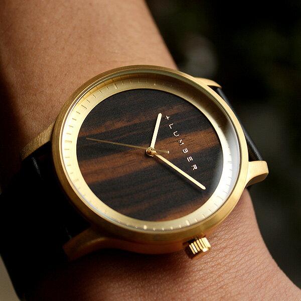 チェリー・黒檀の天然木をおしゃれに組み込んだ大きくて見やすい腕時計・ウォッチ