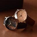 ■【ペア】「+LUMBER WATCH 8800 ギフトセット」腕時計 ウォッチ 木製 ウッド メンズ レディース ユニセックス 日本製ムーブメント 生活防水 プレゼント ギフト おしゃれ シンプル ペアウォッチ ビッグフェイス Hacoa 送料無料・・・