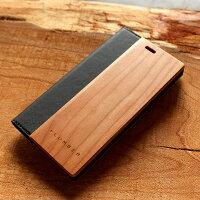 手触り良い塗装を施した木製エクスペリアXZ1ケース