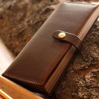 木と革の職人が作る、本の形をしたペンケース「BOOKPENCASELサイズ」