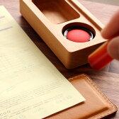 ■【M】木と革の印鑑ケース&捺印マット「STAMP MAT & CASE Mサイズ」
