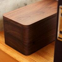 高級木材ウォールナットから削りだした法人印鑑用木製ケース「President印鑑収納ケース」