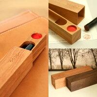 気持ち良く印鑑を出すことができる木製印鑑ケース