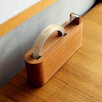 木地職人が作ったかわいい木製テープディスペンサー