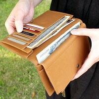 コルクレザーを活用、収納豊富な機能と軽さが魅力の長財布「CONNIEDoubleWallet」