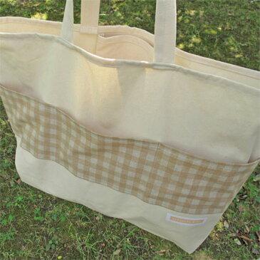 シンプル帆布バッグNO.9【ハンドメイドバッグ】【ショルダーバッグ】【バッグ】【レッスンバッグ】【手作り】【ハンドメイド】【帆布】【手作りバッグ】【シンプル】【ナチュラル】