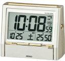 【動画あり】セイコー 電波時計目覚し時計 TALK LINER トークライナー DA206G音声報時機能付き華やかな薄金色パール塗装【あす楽対応】