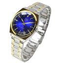 【メール便 送料無料】シチズン Q&Q 腕時計 メンズ カットガラス ネイビー ネイビー QB78-412