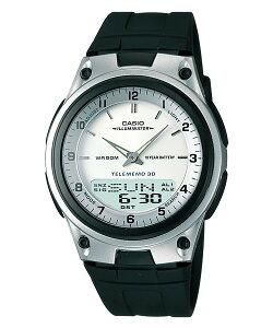 【メール便 送料無料】カシオ アナログデジタル コンビ 腕時計 ウォッチ AW-80-7AJF 10年電池 白 樹脂バンド