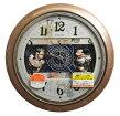 【取り寄せ品】送料無料★セイコーDisney(ディズニータイム)掛け時計★ミッキー&ミニー電波からくり時計★FW561A