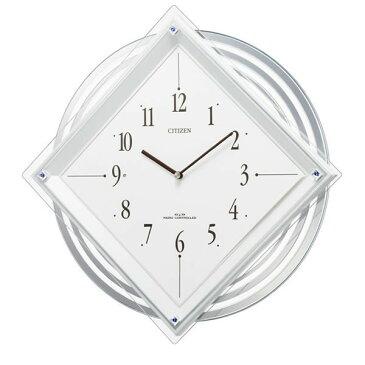 送料無料!訳あり特価! シチズン 振り子時計 電波掛け時計 スワロフスキー 白 パルミューズスターF 4MX403-N03 【あす楽対応】【動画あり】 電波時計