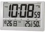 【取り寄せ品】送料無料★セイコー掛け時計置き時計兼用デジタル電波時計温度表示湿度表示大型時計SQ433S
