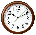 送料無料 訳あり特価!セイコークロック SEIKO クオーツ掛け時計 木枠 連続秒針 KX620B ブラウン【あす楽対応】