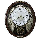 送料無料 訳あり特価!リズム時計製スモールワールド電波掛時計 スモールワールドノエル 4MN509RH23【あす楽対応】