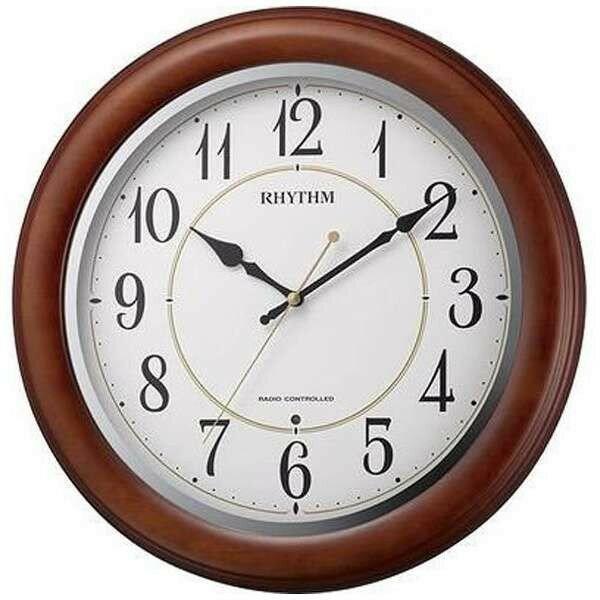 RHYTHM リズム時計 スタンダード 電波掛け時計 フィットウェーブピアニー 8MYA30SR06