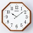 SEIKOセイコークロック掛け時計電波時計八角KX263B【あす楽対応】