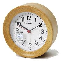 セイコークロック 目覚まし時計 掛置兼用 ナチュラルスタイル アラーム 木枠 ビーチ 天然色木地塗装 KR899A【あす楽対応】置き時計 掛け時計 壁掛け