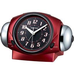 リズム時計 大音量ベル音目覚まし時計 バトルパワー646 8RA646SR01 赤メタリック お取り寄せ品