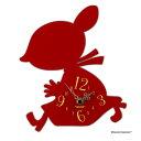 ムーミンの人気キャラクターのシルエット掛時計!KC-5021【ムーミン】シルエット時計★リトルミ...
