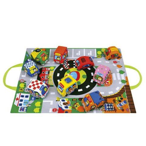 カーズ・イン・タウン ケーズキッズ 車 布 おもちゃ 出産祝い 赤ちゃん 1歳 2歳 誕生日 プレゼント