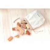 寄木の積木(布袋付き)白木無塗装積み木日本製出産祝い赤ちゃん1歳誕生日クリスマスプレゼント