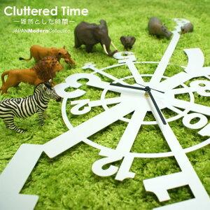 壁 時計 インテリア デザイナーズ【送料無料】★時計★Cluttered Time 雑然とした時間 time 壁...