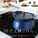 【公式】炊飯 土鍋 ベストポット IH対応 20cm ih《炊飯2合まで》 ご飯が美味しく炊ける土鍋