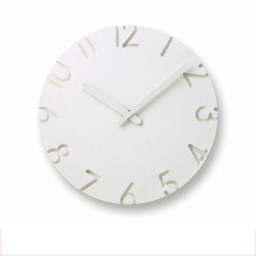 【送料無料・一部地域を除く】掛け時計 カーヴド NTL10-04 レムノス【壁掛け時計 時計 壁掛け デザイン 白 ホワイト デザイナー シンプル 壁掛け時計 かわいい 雑貨 おしゃれ インテリア プレゼント 誕生日 新築祝い】