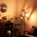 500円クーポン利用可★【送料無料】LED 対応 フロアライト 3灯 ...
