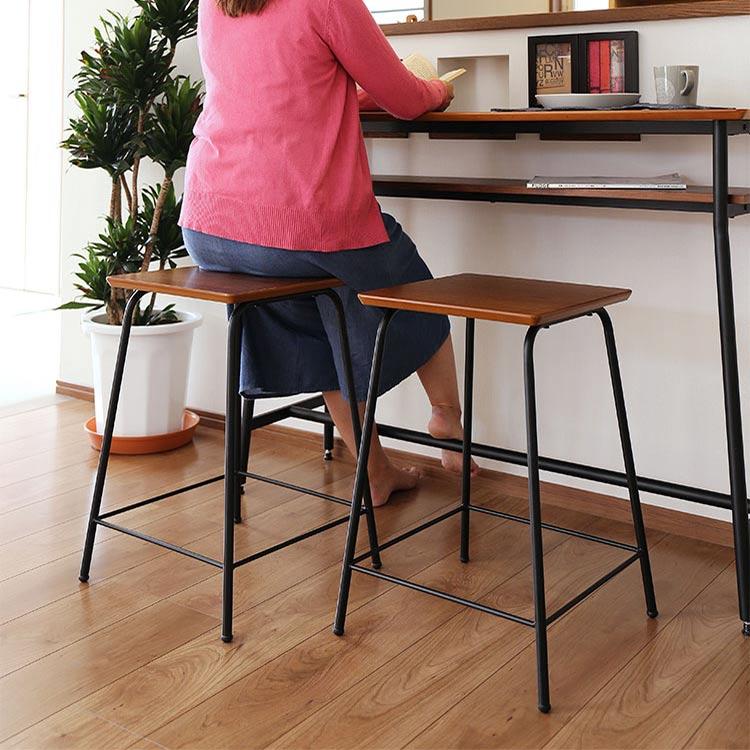 ウォールナット 天然木 ロカス カウンタースツール カウンターチェア カウンターチェアー バーチェア バーチェアー 背もたれなし パソコンチェア いす 椅子 チェアー チェア 木製 スチール 一人暮らし 北欧 おしゃれ家具 インテリア