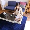 【送料無料】引出し付き センターテーブル ルサック【ガラステーブル お...