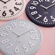 【ポイント10倍】掛け時計 エンボスウォールクロック BCW013【壁掛け時計 おしゃれ 時計 壁掛け デザイン シンプル ポップ ストライプ 壁掛け時計 かわいい ギフト プレゼント 父の日】