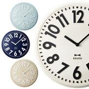 ポイント 掛け時計 エンボスウォールクロック おしゃれ デザイン シンプル ストライプ プレゼント