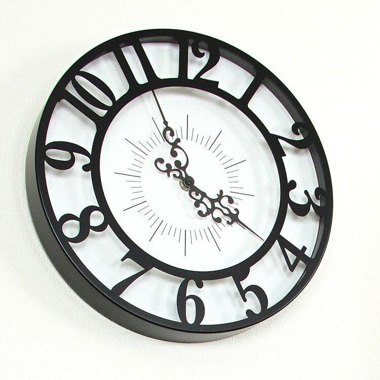 掛け時計 CL-4960 ジゼル インターフォルム 【壁掛け時計 壁 時計 掛時計 クロック ウォールクロック インテリア雑貨 デザイン時計 かわいい おしゃれ 壁掛け時計 モノトーン プレゼント 誕生日 新築祝い 結婚祝い】