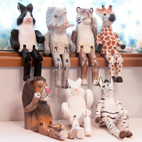 ウッドアニマルトイ アニマル 動物 雑貨 木製 置物 手作り インテリア雑貨 おしゃれ 子供部屋 おもしろ雑貨 プレゼント 北欧 テイスト