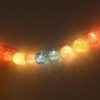 【送料無料】【PSE取得済】LEDコットンボールランプクッカkukka【インテリアガーランドダイニングリビングLEDライト間接照明北欧テイストかわいいおしゃれテーブルランプ壁飾りオーナメントイルミネーションギフト】